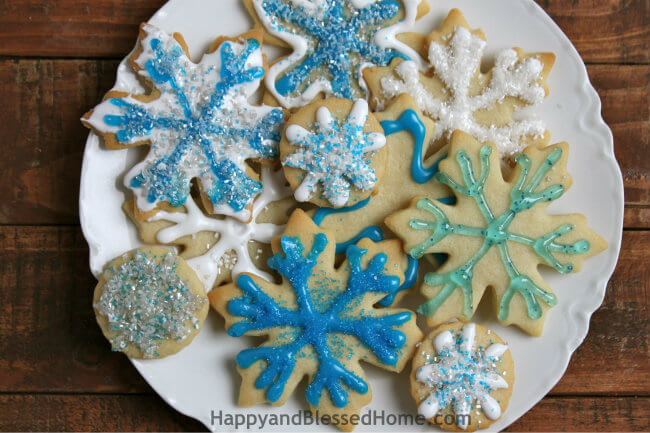 Snowflake Cookie Recipe and Cookie Decorating Tutorial HappyandBlessedHome
