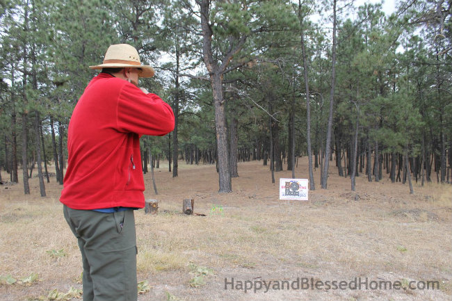Target Practice with a Red Ryder Daisy BB Gun HappyandBlessedHome.com