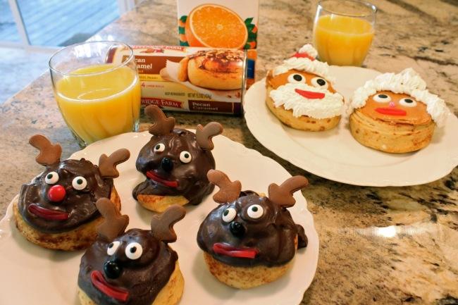 reindeer OJ and Santa