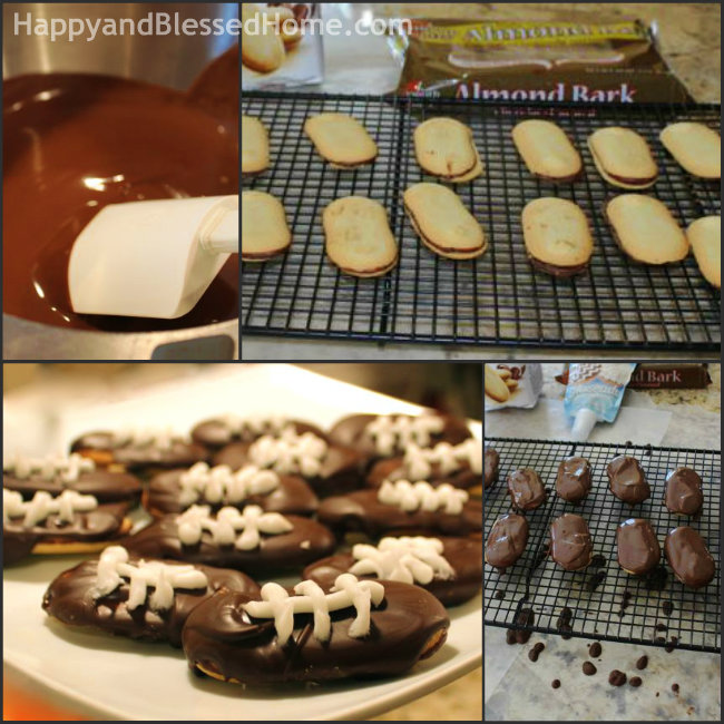 3 Ingredient Easy Football Cookie Recipe for Game Day Party Fun from HappyandBlessedHome.com