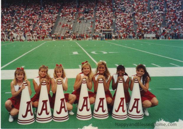 Alabama Cheerleaders with megaphones from HappyandBlessedHome