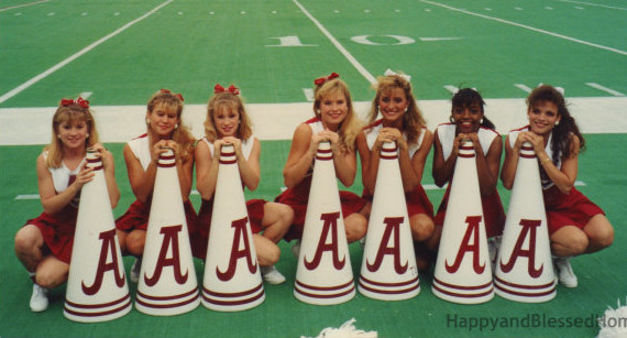 Alabama Cheerleaders with megaphones from HappyandBlessedHome