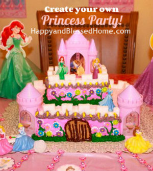 Button-Princess-Birthday-Party-Princess-Castle-Cake