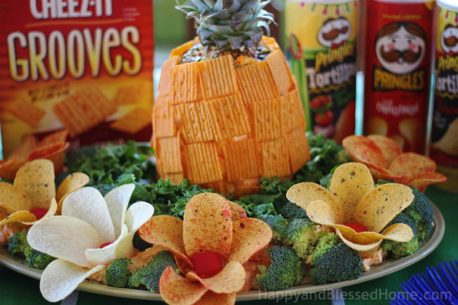 Close Up for Football Party Fun with FREE Planning Printables and Cheez-It and Pringles Recipes HappyandBlessedHome.com