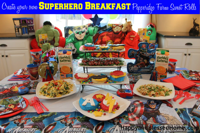 Create your own Superhero Breakfast with Pepperidge Farm Sweet Rolls from HappyBlessedHome.com