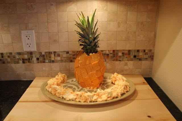 Decorate Pineapple for Football Party Fun with FREE Planning Printables and Cheez-It and Pringles Recipes from HappyandBlessedHome.com