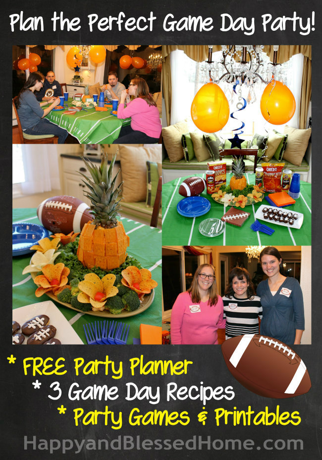 FREE Football Party Printables and Football Party Fun with Cheez-It and Pringles Recipes from HappyandBlessedHome