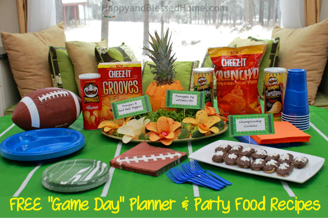 Football Party Fun with FREE Planning Printables and Cheez-It and Pringles Recipes from HappyandBlessedHome