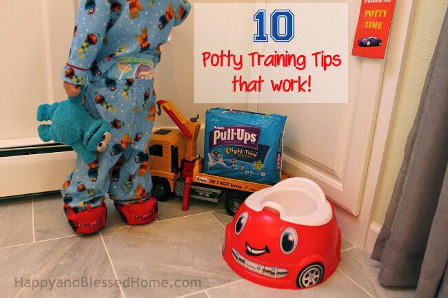 Free Potty Training Printables and 10 Potty Training tips that work with Huggies Pull-Ups Training Pants from HappyandBlessedHome.com