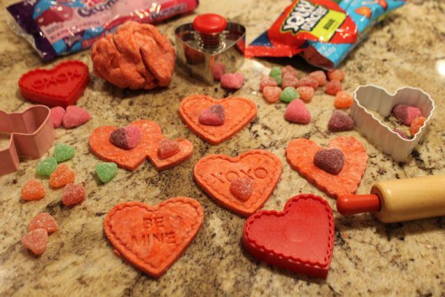 Decorate Sensory Doh Fun with Red Velvet Chocolate Themed Sensory Doh and Valentine's Day Fun from copyright 2015 HappyandBlessedHome.com