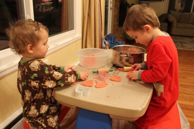 Cut Sensory Doh Fun with Red Velvet Chocolate Themed Sensory Doh and Valentine's Day Fun from copyright 2015 HappyandBlessedHome.com