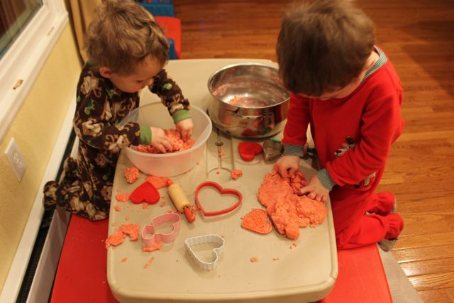 Mash Sensory Doh Fun with Red Velvet Chocolate Themed Sensory Doh and Valentine's Day Fun from copyright 2015 HappyandBlessedHome.com