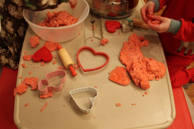 Play Sensory Doh Fun with Red Velvet Chocolate Themed Sensory Doh and Valentine's Day Fun from copyright 2015 HappyandBlessedHome.com