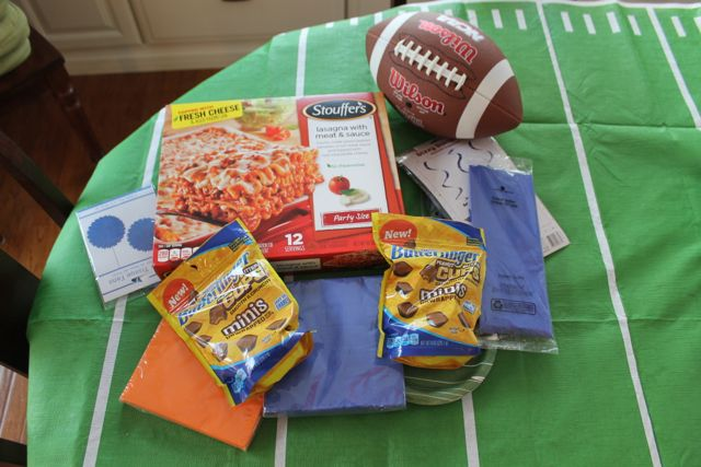 Game Day Preparation Football Party Decorations and Easy-to-Serve Foods