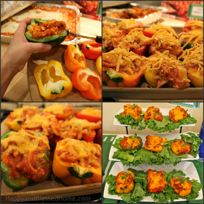 Lasanga Stuffed Peppers HappyandBlessedHome