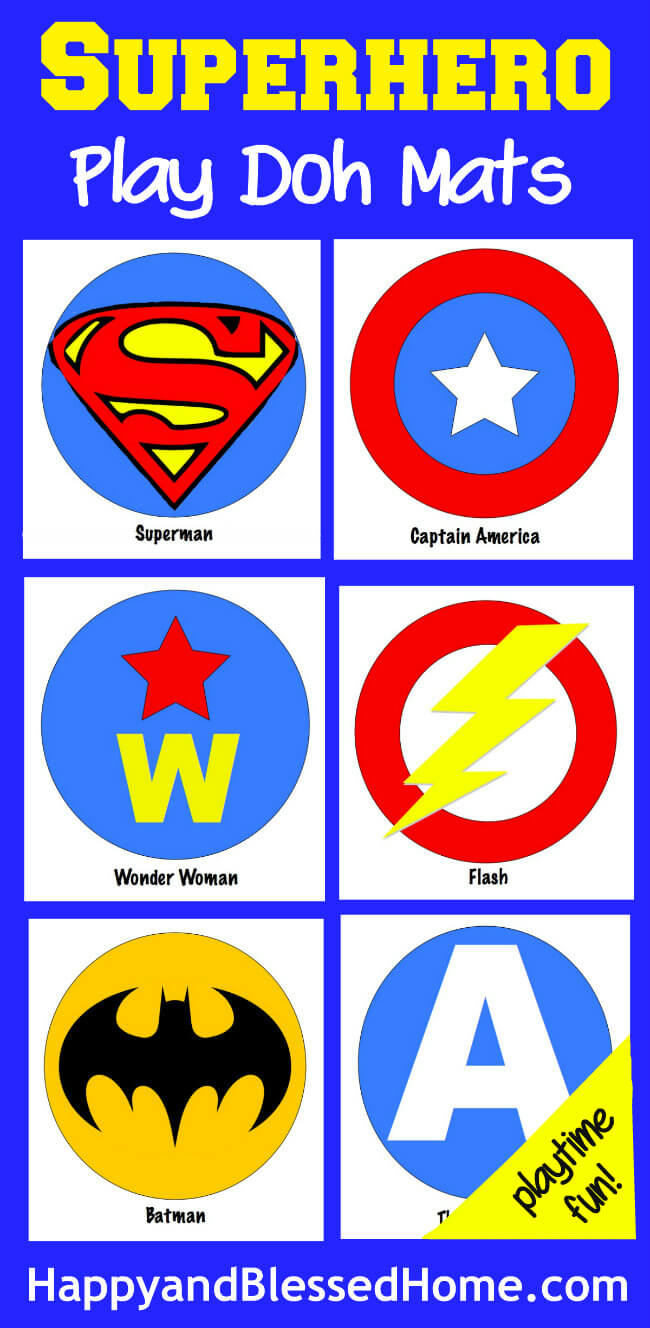 Superhero Play Doh Mats