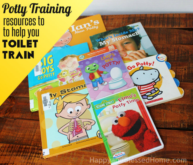 Potty Training Resources to Help you Toilet Train from HappyandBlessedHome.com