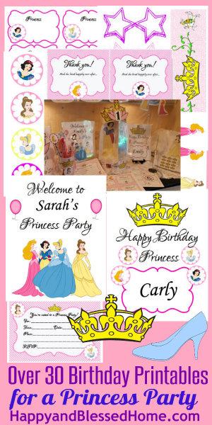 Princess Birthday Party HappyandBlessedHome.com
