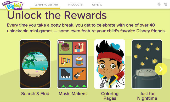 Pull-Ups® Time to Potty App Rewards and Games