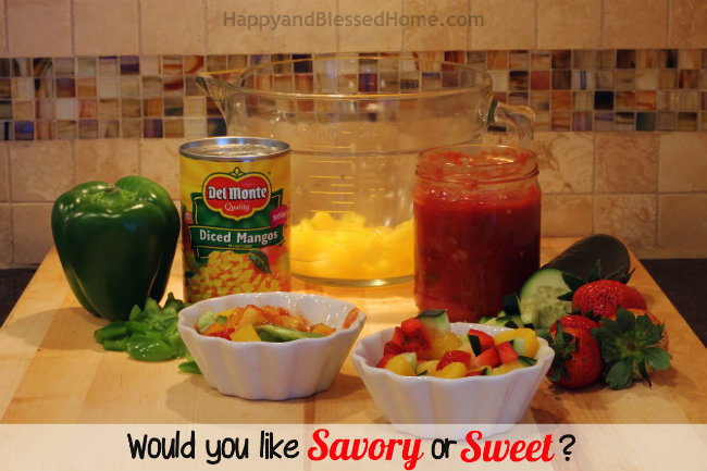 Super Bowl Sunday - Would you like Sweet or Savory with Panko and Coconut Crusted Cod and Mango Salsa Recipes from HappyandBlessedHome.com