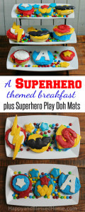 Superhero-Themed-Breakfast-with-Pepperidge-Farm-Sweet-Rolls-and-Play-Doh-Placemats-for-Kids-from-HappyandBlessedHome