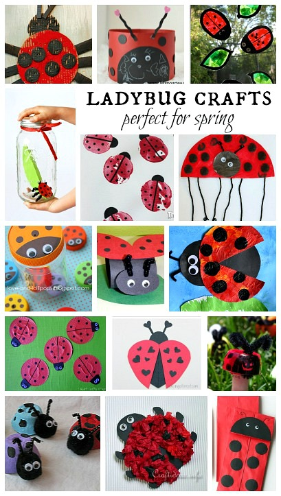 The ultimate list of 20 spring arts and crafts for kids for Ladybug arts and crafts