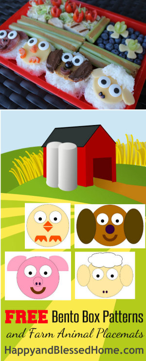 Bento-Box-Photo-with-Free-Printables-for-FREE-Bento-Box-Patterns-and-FREE-Farm-Animal-Placemats-for-Kids-from-HappyandBlessedHome.com_1