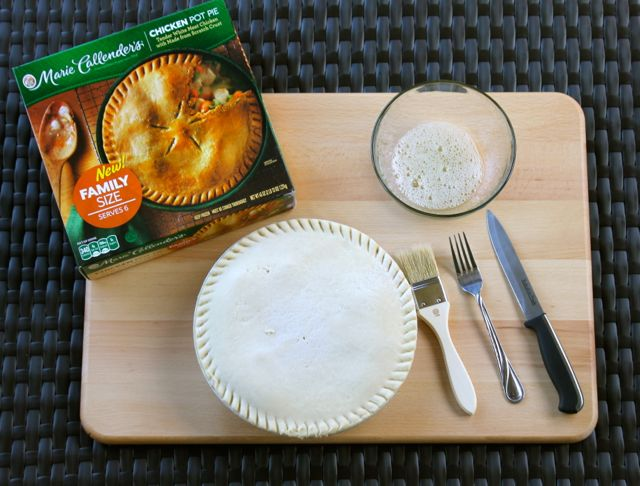 Browning the Crust on Marie Callender's Pot Pie from HappyandBlessedHome