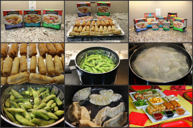 Celebrate the Chinese New Year with Tai Pei® Frozen Foods Collage from HappyandBlessedHome.com