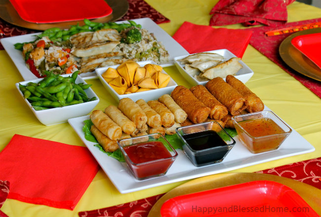 Celebrate the Chinese New Year with Tai Pei® Frozen Foods and a creative Centerpiece from HappyandBlessedHome.com