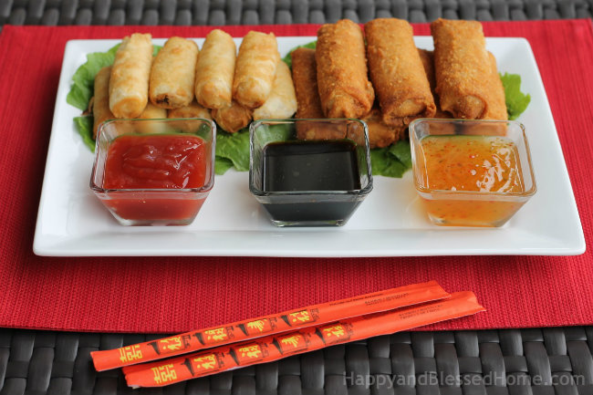 Celebrate the Chinese New Year with Tai Pei Egg Rolls® and Tai Pei® Spring Rolls from HappyandBlessedHome.com
