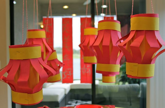 Celebrate the Chinese New Year with this easy Chinese Lantern Craft for Kids from HappyandBlessedHome