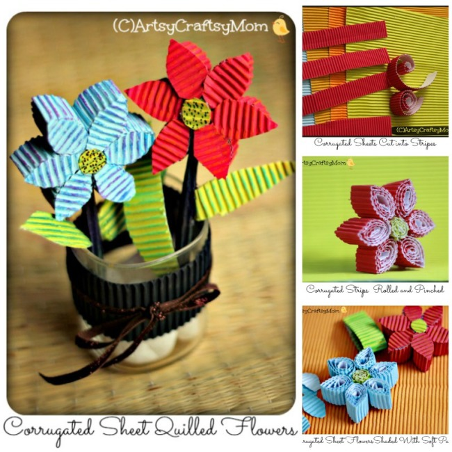 Corrugated-sheet-quilled-flowers