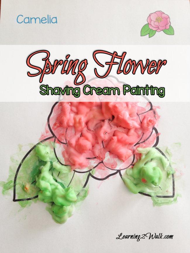 Foam Spring-Flower-Shaving-Cream-Painting