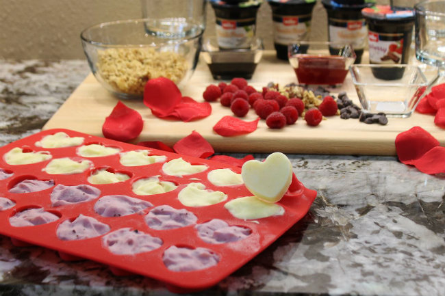 Frozen Muller Yogurt in Heart Shaped Silicone Pan from HappyandBlessedHome