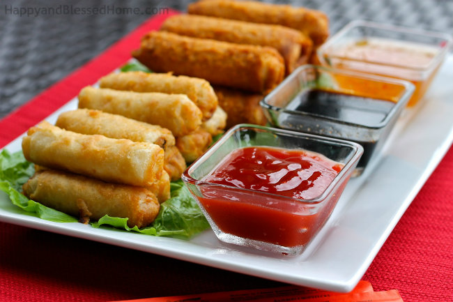 Host the perfect Chinese New Year Party with Tai Pei Egg Rolls® and Tai Pei® Spring Rolls from HappyandBlessedHome.com
