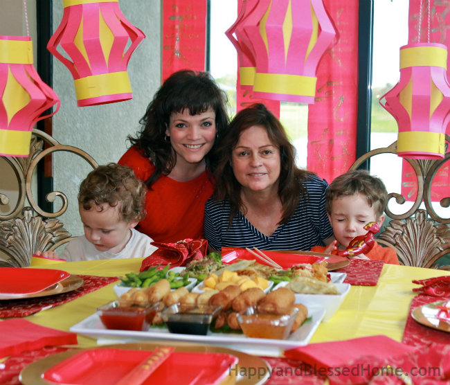 Throw a Chinese New Year Party with Family and Tai Pei Egg Rolls® and Tai Pei® Spring Rolls from HappyandBlessedHome.com