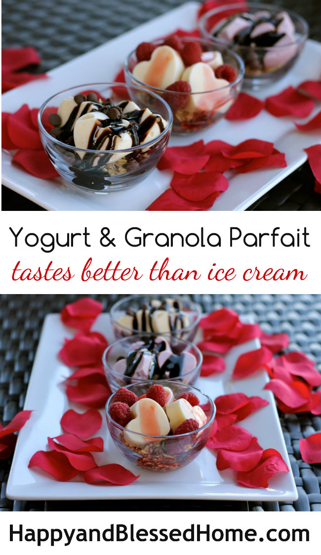 Unbelievable Flavor! Yogurt and Granola Parfait - Tastes Better than Ice Cream - Easy Recipe from HappyandBlessedHome.com