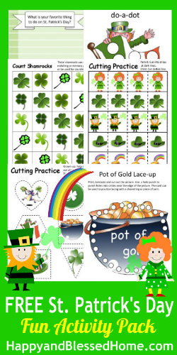 FREE St. Patrick's Day Activity Pack from HappyandBlessedHome.com