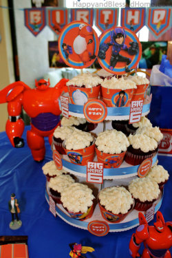 Big-Hero-6-Vertical-Cupcake-Tower-and-Big-Hero-6-BIrthday-Party-ideas-from-HappyandBlessedHome.com_