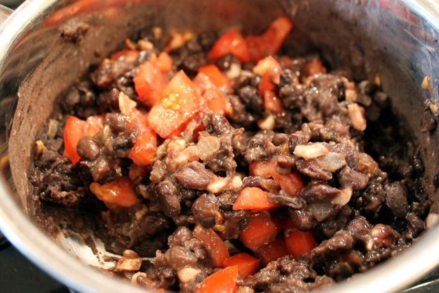 Black Bean Salsa on the stove from HappyandBlessedHome
