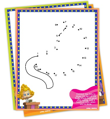 Bubble Guppies Connect the Dots Pack