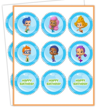 Free printables bubble guppies jello recipe and nickelodeon kids bubble guppies cupcake wrappers toppers bubble guppies cupcake wrappers toppers maxwellsz