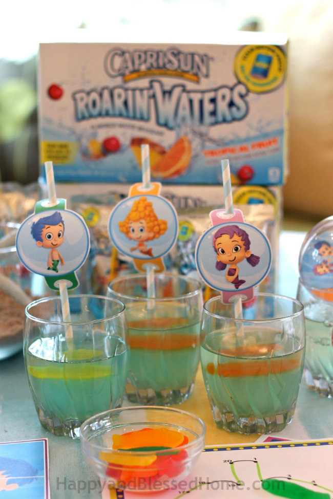 Capri Sun Roarin' Waters and Bubble Guppies Jello from HappyandBlessedHome