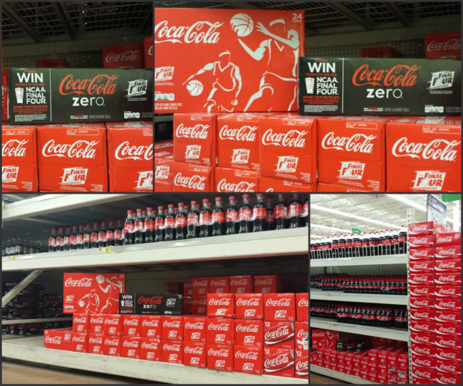 Coca-Cola NCAA® Final Four Packs of Cherry Coke, Vanilla Coke and Coke Zero at Walmart