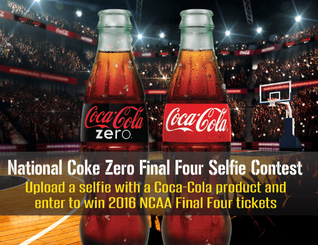 Coca-Cola NCAA® March Madness National Coke Zero Final Four Selfie Contest