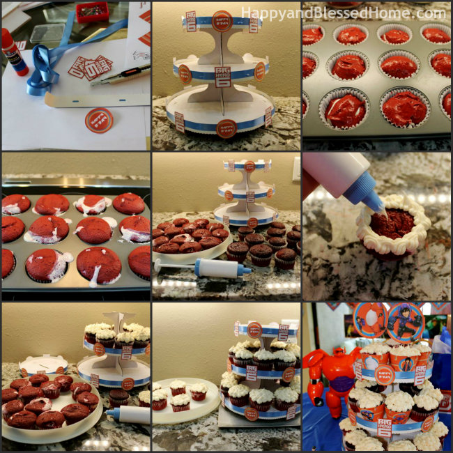 DIY Big Hero 6 Cupcake Tower Collage from HappyandBlessedHome
