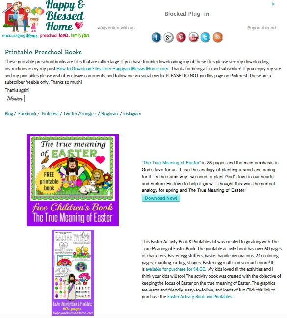Easter Book on Preschool Books page