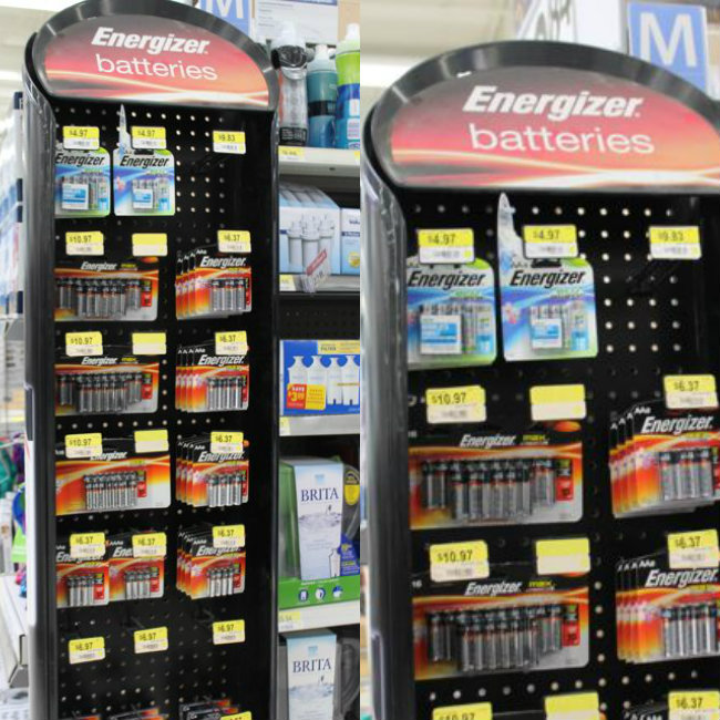 Energizer Batteries at Walmart