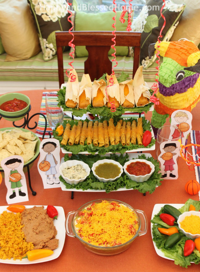 Enjoy the game with Delimex and my Seven Layer Dip from HappyandBlessedHome.com